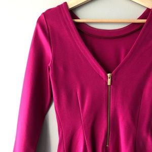 Fuchsia colored dress with back zip